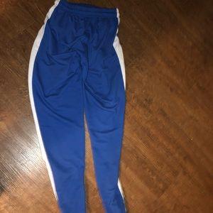 No brand sweat pants and dri fit Nike shirt